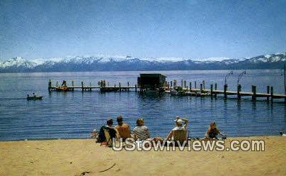 Snow Capped Sierras - Lake Tahoe, California CA Postcard