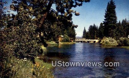 Truckee River - Lake Tahoe, California CA Postcard