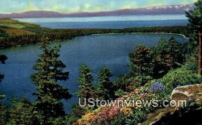 Fallen Leaf Lake - Lake Tahoe, California CA Postcard