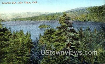 Emerald Bay - Lake Tahoe, California CA Postcard