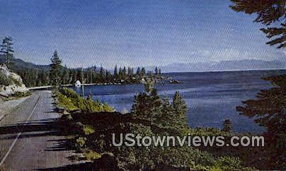 Shoreline Highway - Lake Tahoe, California CA Postcard