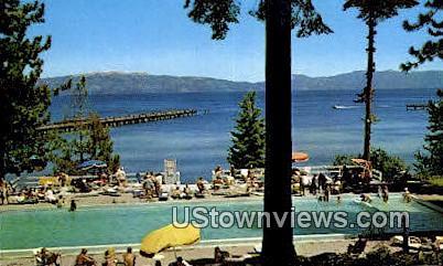 Lake Side Resort - Lake Tahoe, California CA Postcard