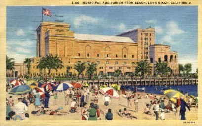 Municipal Auditorium - Long Beach, California CA Postcard