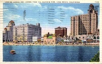 The Lagoon from Rainbow Pier - Long Beach, California CA Postcard