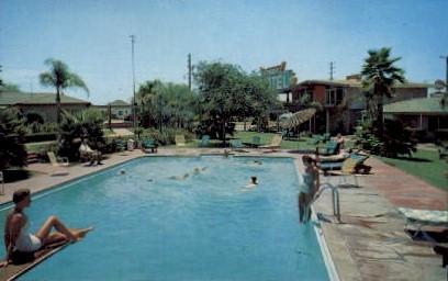 Virginia Motel - Long Beach, California CA Postcard