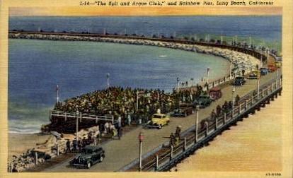 The Spit and Argue Club - Long Beach, California CA Postcard