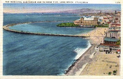 The Municipal Auditorium - Long Beach, California CA Postcard