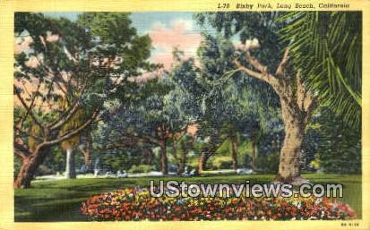 Bixby Park - Long Beach, California CA Postcard