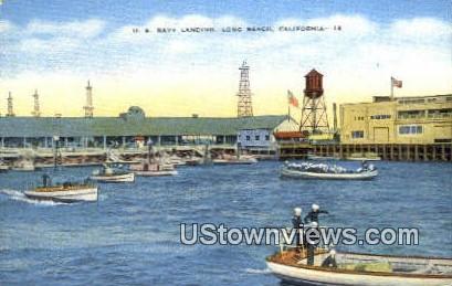 US Navy Landing - Long Beach, California CA Postcard