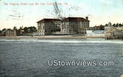 Virginia Hotel - Long Beach, California CA Postcard