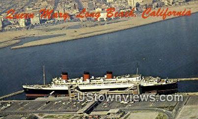 Queen Mary - Long Beach, California CA Postcard