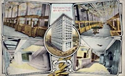 Trust and Savings Bank - Los Angeles, California CA Postcard