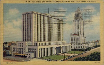 Post Office and Federal Building - Los Angeles, California CA Postcard