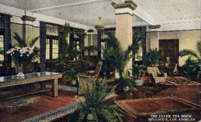The Foyer, Tea Room - Los Angeles, California CA Postcard