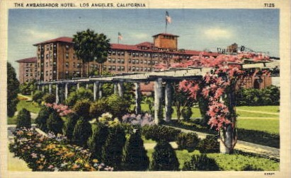 The Ambassador Hotel - Los Angeles, California CA Postcard
