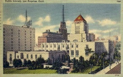 Public Library - Los Angeles, California CA Postcard