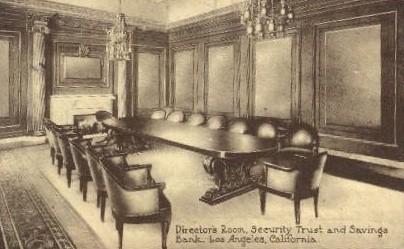 Security Trust and Savings Bank - Los Angeles, California CA Postcard
