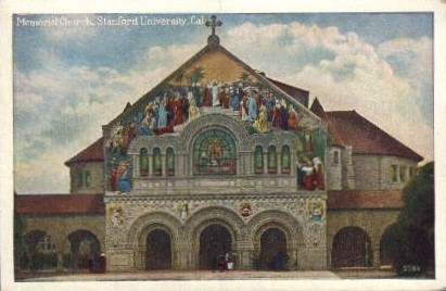 Memorial Church, Stanford University - Los Angeles, California CA Postcard