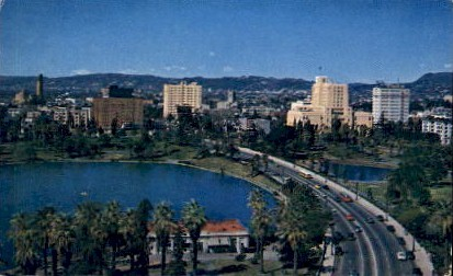 Wilshire Blvd. - Los Angeles, California CA Postcard