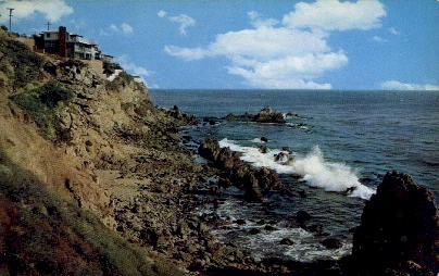 Seaside Homes - Los Angeles, California CA Postcard