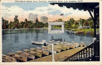 Band Stand from Pavilion - Los Angeles, California CA Postcard