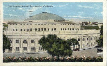 The Angelus Temple - Los Angeles, California CA Postcard