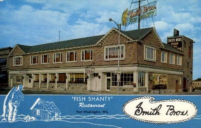Fish Shanty Restaurant - Los Angeles, California CA Postcard