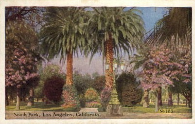 South Park - Los Angeles, California CA Postcard