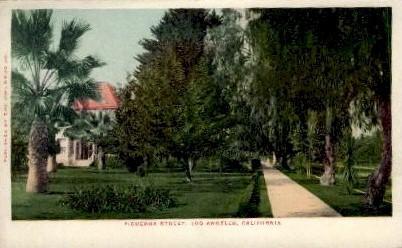 Figueroa Street - Los Angeles, California CA Postcard