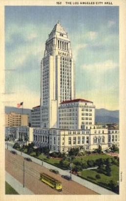 The Los Angeles City Hall - California CA Postcard