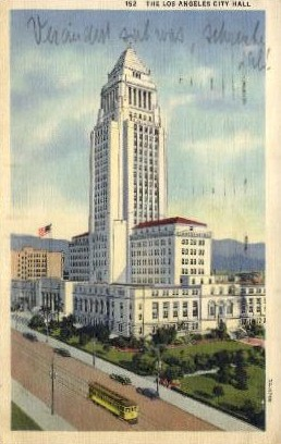 City Hall - Los Angeles, California CA Postcard
