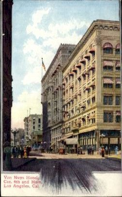 Van Nuys Hotel - Los Angeles, California CA Postcard
