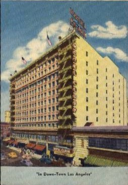 Hotel Clark - Los Angeles, California CA Postcard
