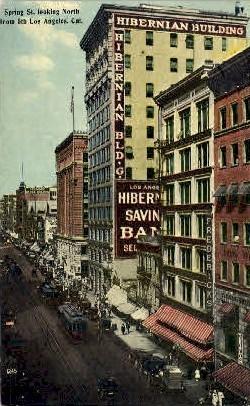 Spring Street - Los Angeles, California CA Postcard