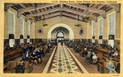 Waiting Room, Union Station - Los Angeles, California CA Postcard