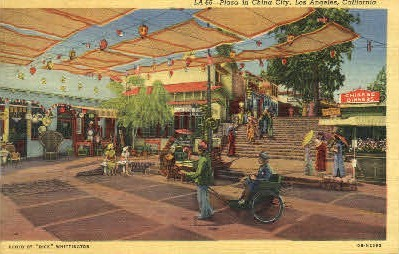 Plaza in China City - Los Angeles, California CA Postcard