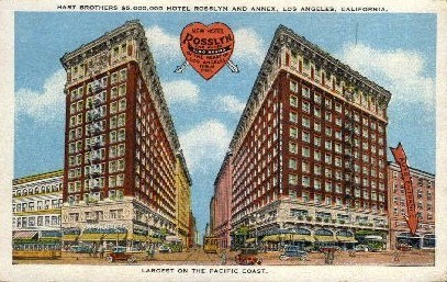 Hart Brothers $5,000,000 Hotel - Los Angeles, California CA Postcard