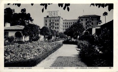 Chapman Park Hotel - Los Angeles, California CA Postcard