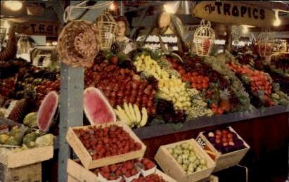 Produce at the Farmers Market - Los Angeles, California CA Postcard