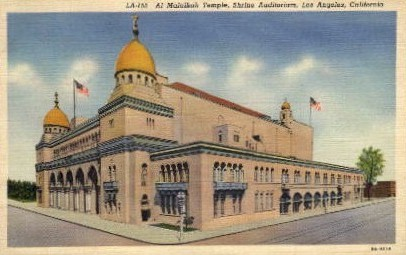 Al Malaikah Temple - Los Angeles, California CA Postcard