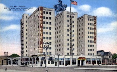 El Rey Hotel - Los Angeles, California CA Postcard