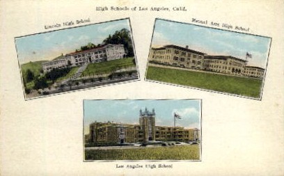 High Schools - Los Angeles, California CA Postcard