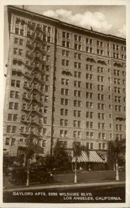 Gaylord Apartments - Los Angeles, California CA Postcard