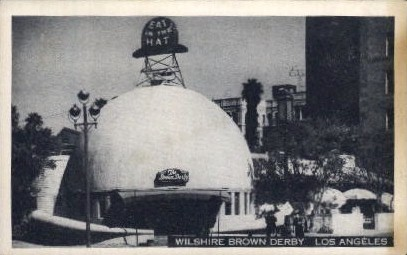 Wilshire Brown Derby - Los Angeles, California CA Postcard