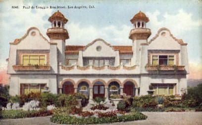Paul de Longpre Residence - Los Angeles, California CA Postcard