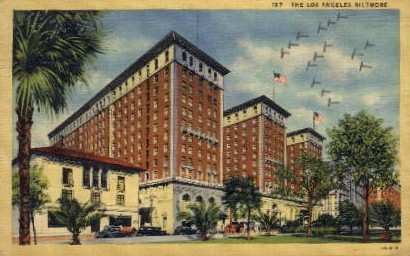 The Los Angeles Biltmore - California CA Postcard