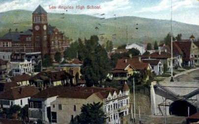 Los Angeles High School - California CA Postcard