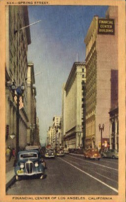 Financial Center of Los Angeles - California CA Postcard