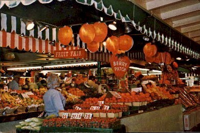World Famous Farmer's Market - Los Angeles, California CA Postcard