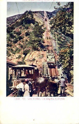Mt. Lowe Incline - Los Angeles, California CA Postcard